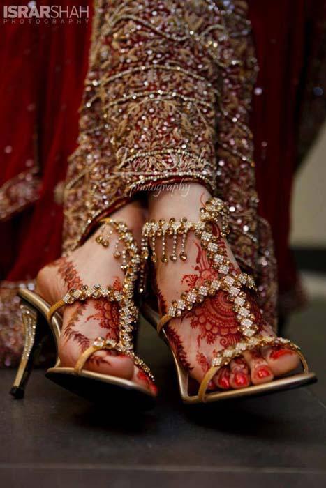 Pakistani bridal shoes 2014