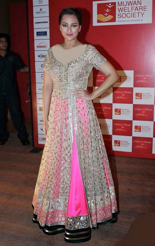 Manish Malhotra Anarkali 2014 Sonaxi Sinha in Manish