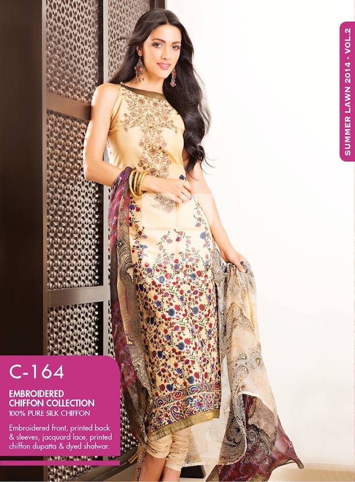 Gul Ahmed La Chiffon Summer Collection 2014 Vol 3 Fashion