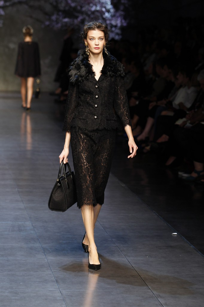 Dolce &amp- Gabbana New Black Dress Collection 2014 for Women