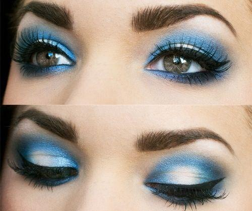 Eye Makeup Tutorial For Blue Smoky Eyes For Girls 2014 - 2015