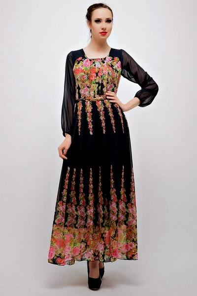 Elegant Emoo Fashion Saudi Burqa Designs 2012 Latest Abaya Trend