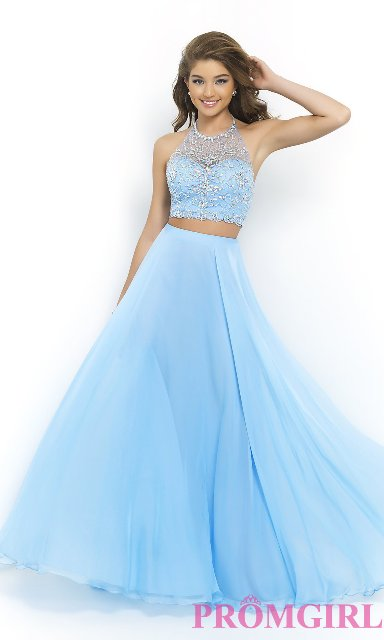 Two Piece Long Short Prom Dress Designs 2014 15 For Western Girls