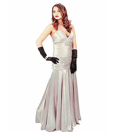 Perfect Womens Audrey Hepburn Fancy Dress Costume Hollywood Film Star Glamours