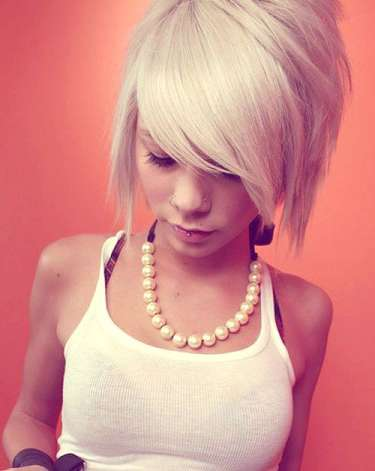 ... look in women exclusive awesome funky hair style fashion for girls