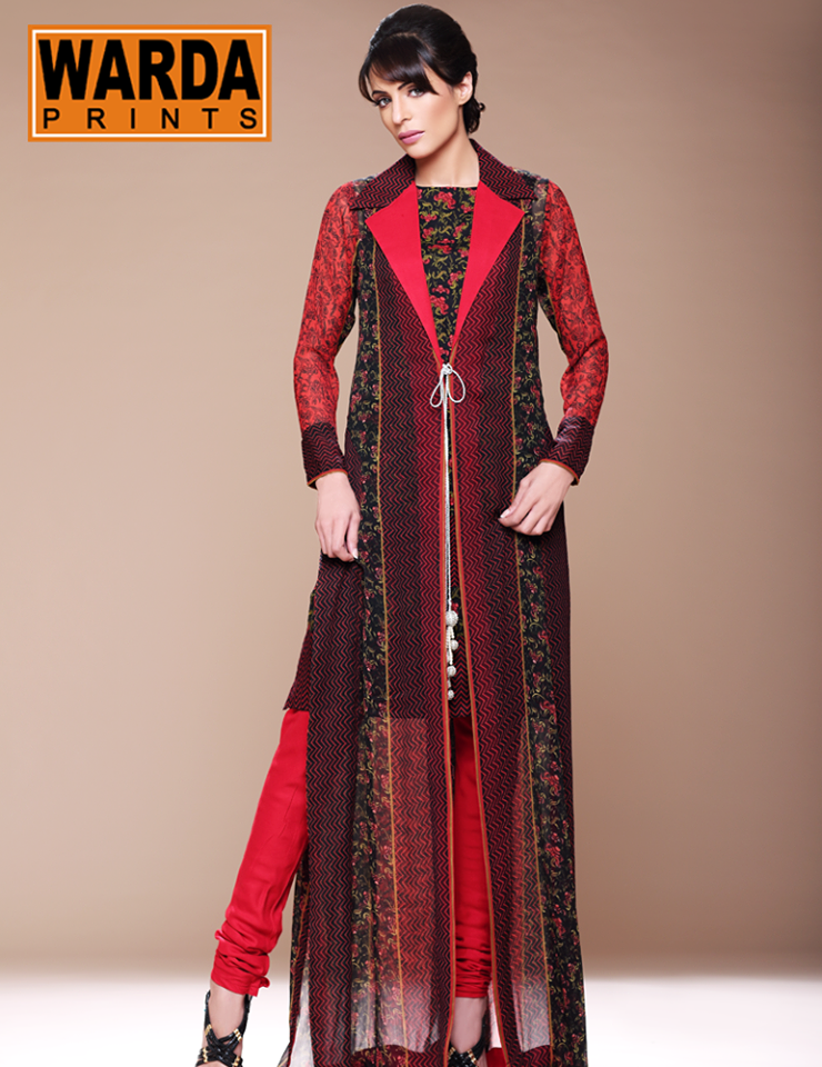 Winter dresses by warda designer 2013 14 for women for How to be a fashion designer at 14
