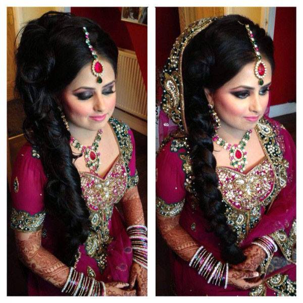 Latest And Beautiful Pakistani Indian Hairstyle 2014 15 For Bridal