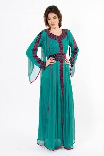 New And Colorful Luxury Abaya Collections 2014 For Girls