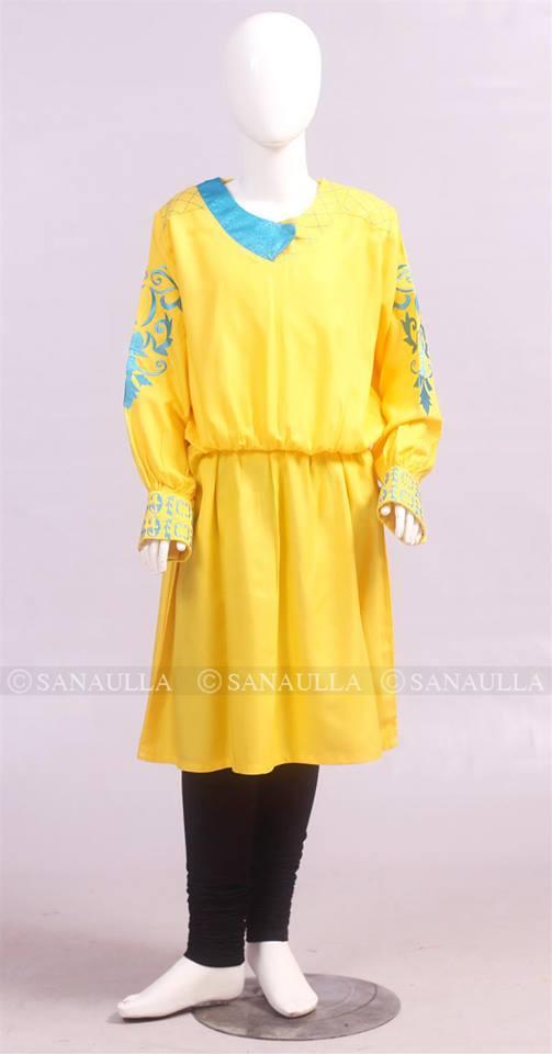 Beautiful Ochre Casual Cotton Wear Dress Collection 2014