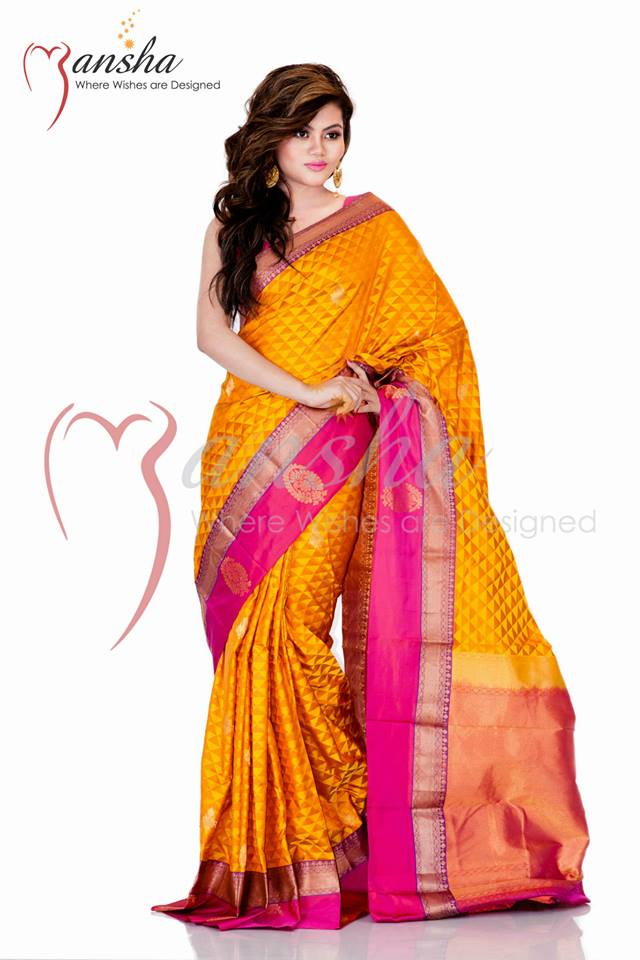 Kanchipuram Katan Colorful Summer Sarees Collection 2014