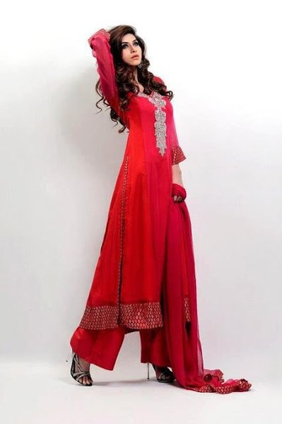 Pakistani Long Dresses 2014 Trends For Girls Fashion Fist