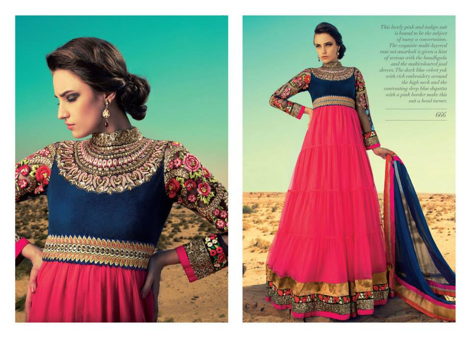 Pehchan Rama Stylish Indian Ready To Wear Frock Designs 2014 For Women