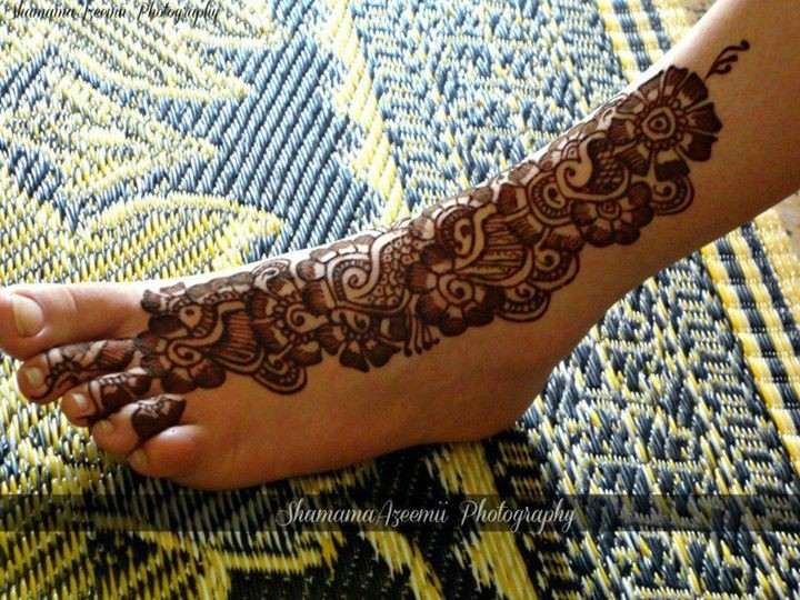 Mehndi Designs For Feet : Arabic mehndi designs for women on foot