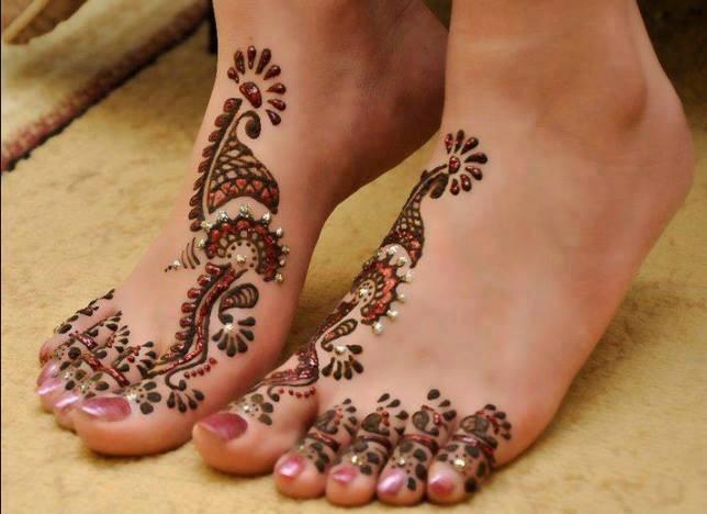 Mehndi For Foot : Arabic mehndi designs 2014 for women on foot