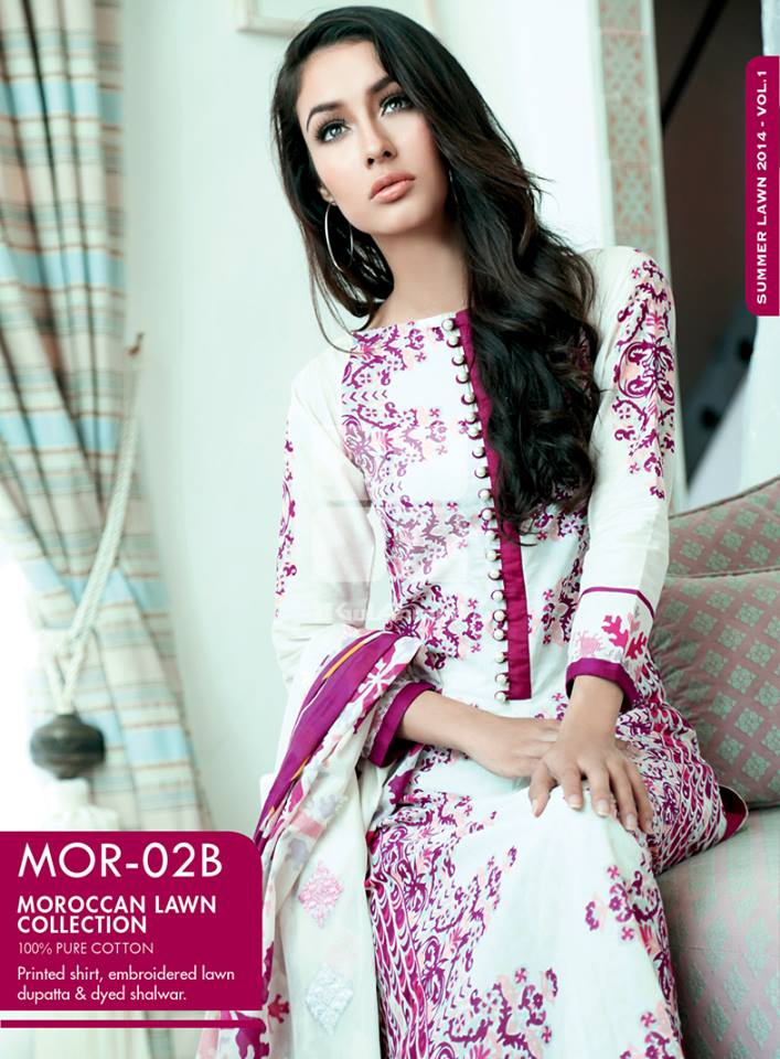 Gul-Ahmed-Summer-Moroccan-Lawn-Collection-2014-for-Women-Fashion Fist (4)