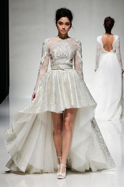 Short wedding dress 2014 collection for women for Marina rinaldi wedding dresses