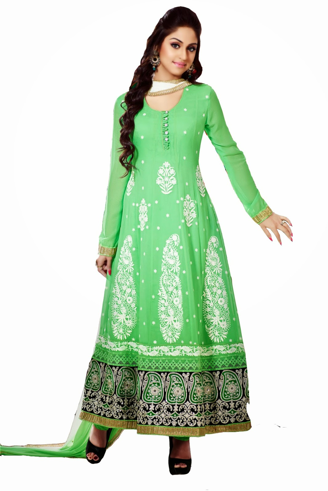 Madhubala Ankle Length Latest Anarkali Readymade Frocks 2014