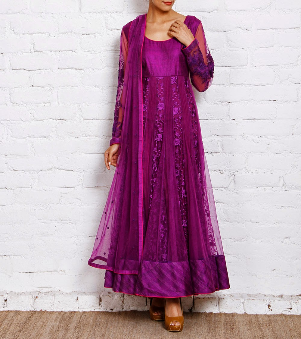 Party Dress of Anarkali Designs 2014 for Girls by Indianroots