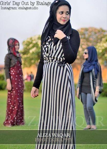 Etalage Islamic Fashionable Abaya Style Summer Women Dresses Collection 2014