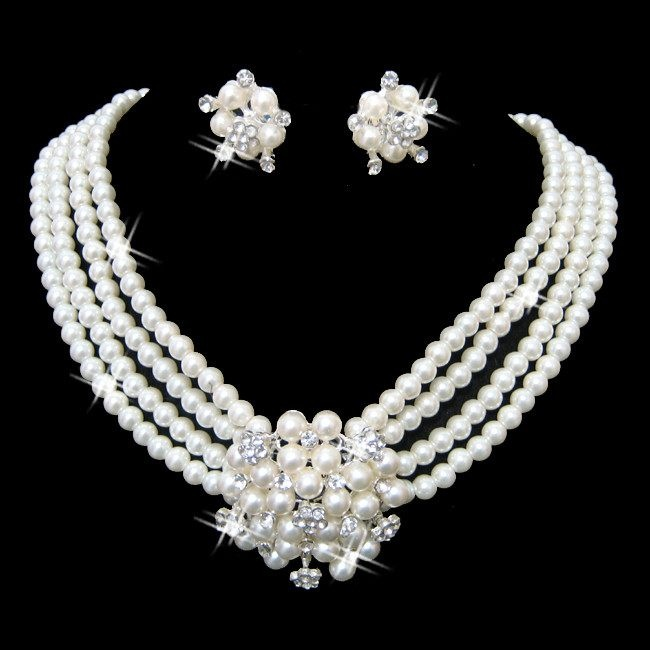 Pearl Necklace Jewelry Designs 2014 For Girls Fashion