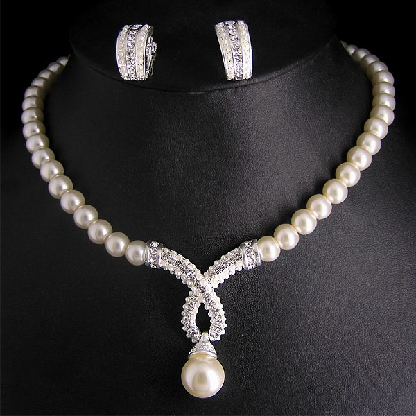Pearl Necklace Jewelry Designs 2014 for Girls