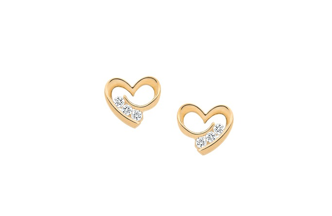 Gold Earrings New Collection By Goldheart Fashion Fist
