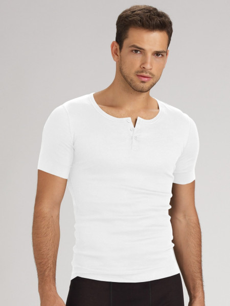 A basic shirt like the Garment Dyed Short Sleeve Henley is elevated with the Henley's unique neckline and pocket. How to wear men's Henley's? A twist on the classic t shirt, the men's Henley's are super comfortable and easy to wear.