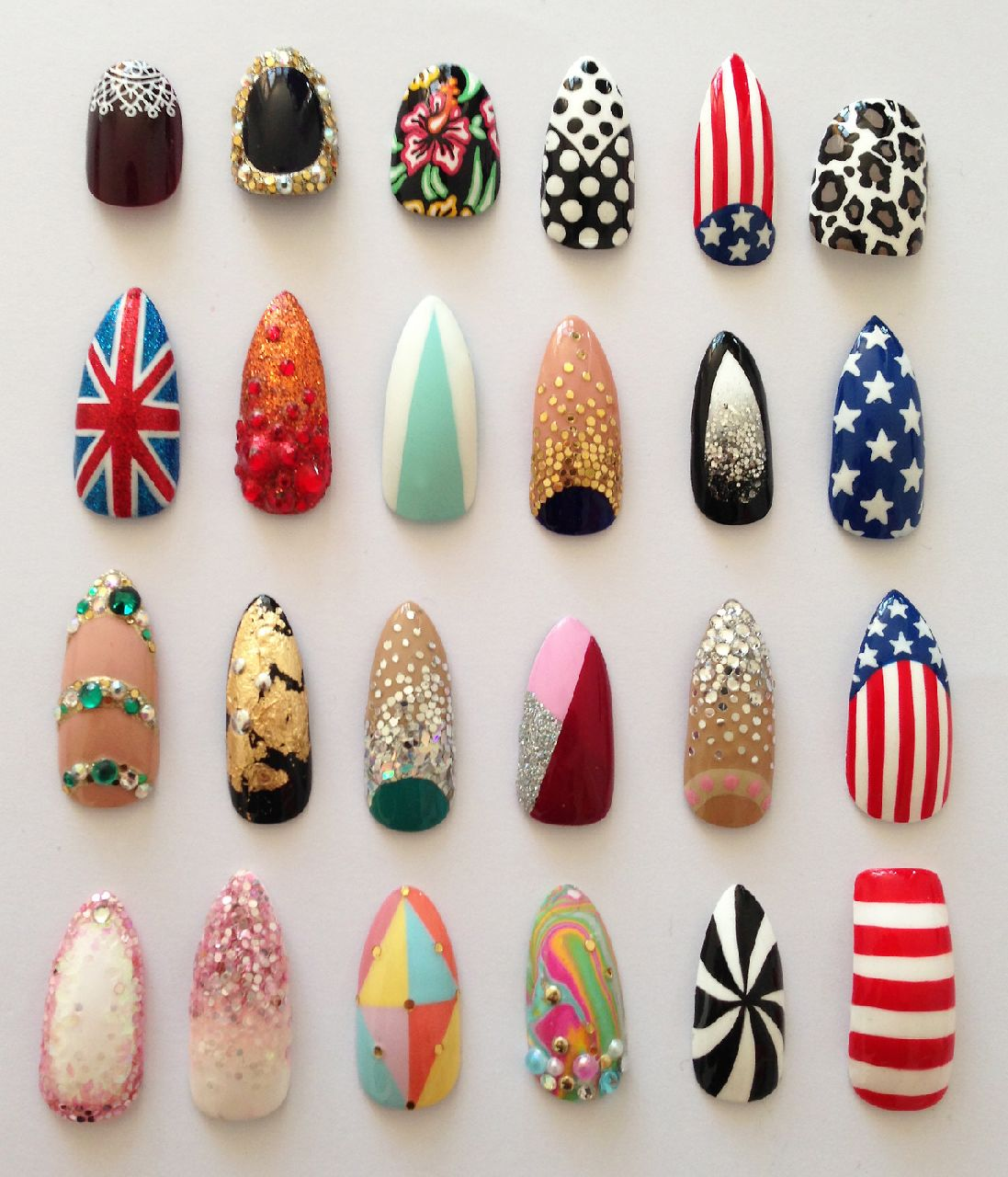 Nail Art Designs Latest Concepts 2014 for Girls