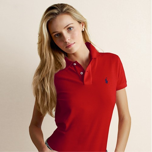 Womens Red Ralph Lauren Polo Shirt