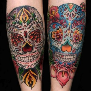 Skull Tattoo Mexican Latest Designs for Men 2014