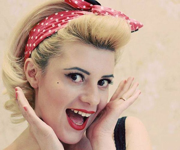 Pin Up Hair Styles For Girls 2014