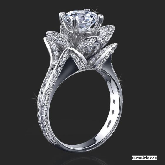 Unique wedding rings princess cut
