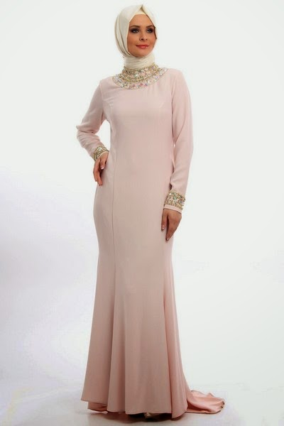 Arab Hijab And Evening Gowns Latest Designs 2014 2015