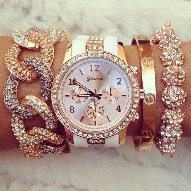 rose gold watch and bracelet 2014 2015 by eve for women