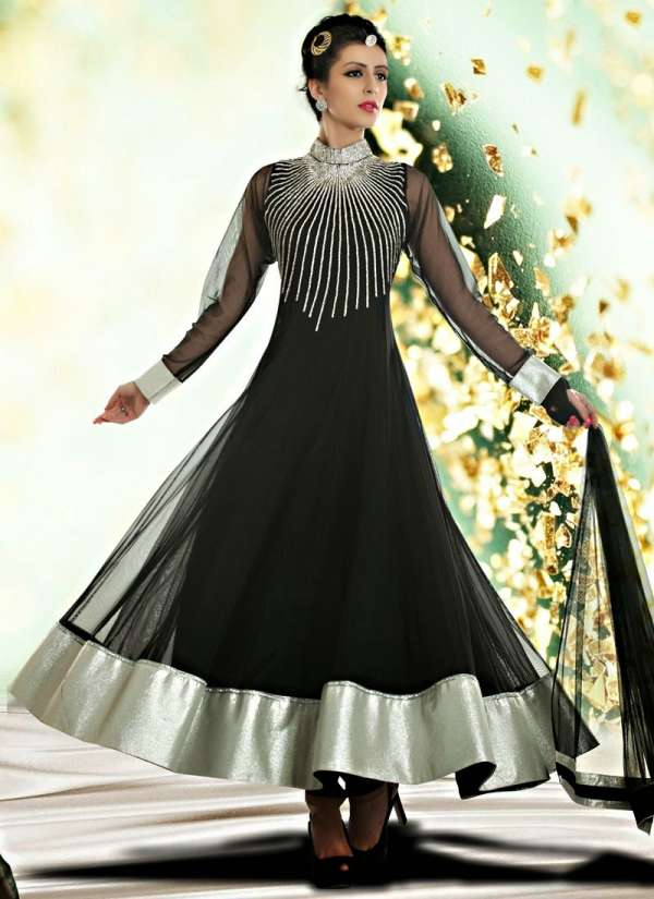 Elegant Anarkali Frocks-Anarkali Churidar Formal Party Wear Casual Shalwar-Kamiz New Fashion Dress ...
