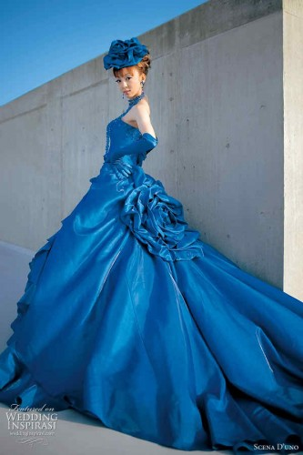 The Help Of Dark Blue And Bright Cornflower Tiffany Or Gauze Are Delivered To Be Among Best Components Used For Disposal Wedding Dresses
