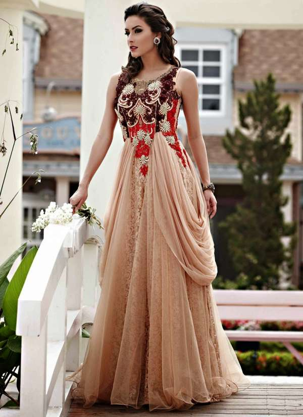 Elegant wedding gowns 2014 2015 for women dresses look best when complemented with accessories that match the dress aishwarya design studio boasts a wide range of classy dresses that will be a junglespirit Images