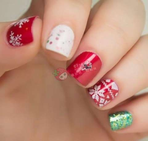 Christmas Nail Designs 2014 2015 For Women