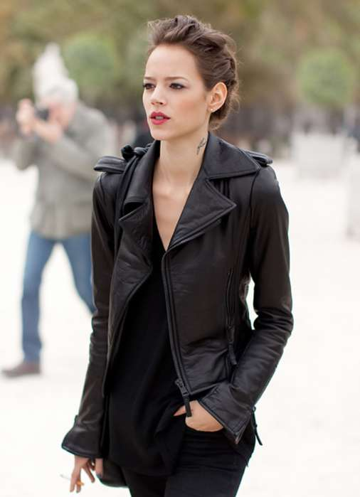 Leather Jackets Street Style for Girls 2015