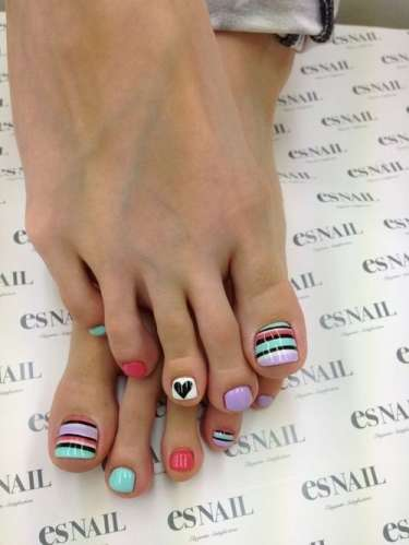 Feet And Nail Art Designs 2015 For Women
