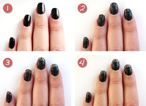 Nail Arts Designs New Year 2015 for Girls