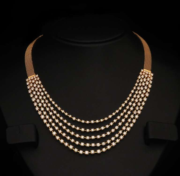 Necklace Designs Diamond Collection 2015 for Girls