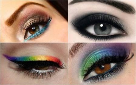 multi color smokey eye makeup 2015 2016